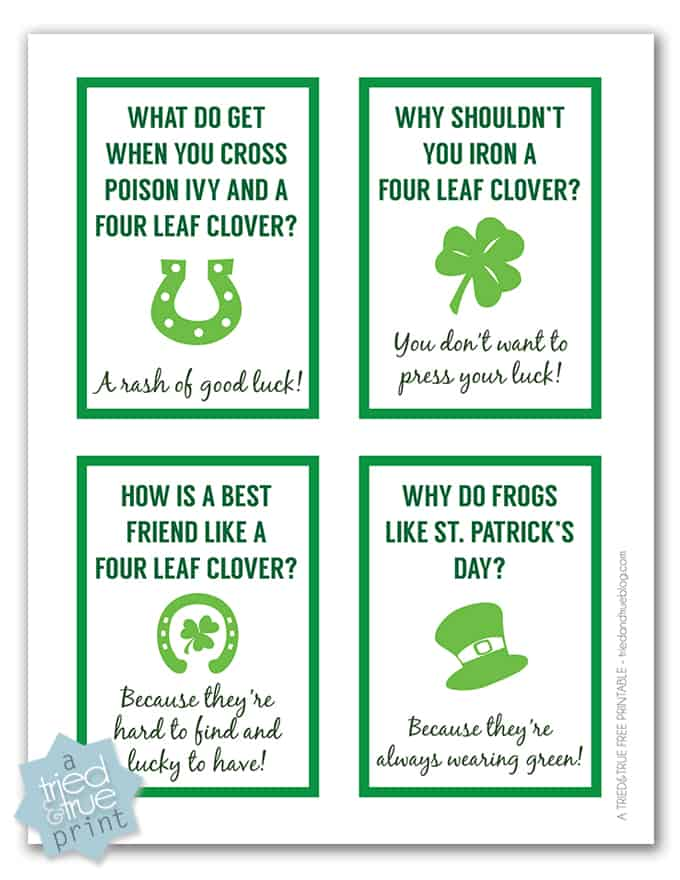 Whether your kids have direct roots to Ireland or not, they're sure to love getting one of these silly St. Patrick's Day lunch box jokes!