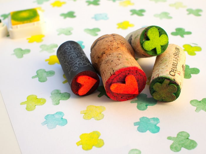 Learn how to make wine cork stamps
