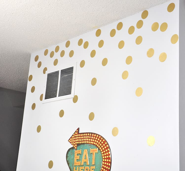 You only need a few supplies to make these metallic removable wall decals - and you can paint them any color of your choice!