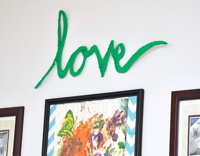 Easy Yarn Art - Love Hung On the Wall