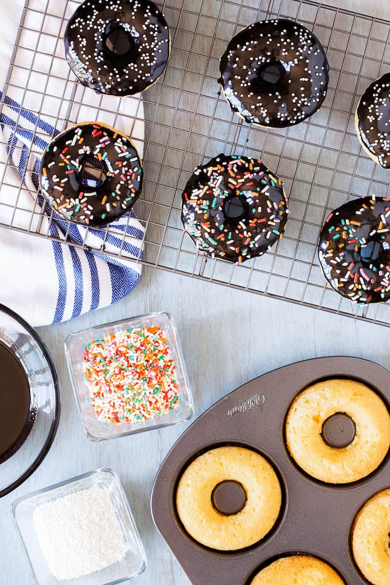 Delicious Cake Mix Donuts with Sprinkles