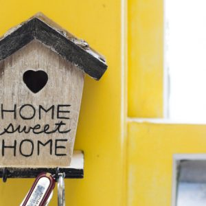 """Make this super easy birdhouse key holder that is not only functional but cute too! Add your favorite saying to the front like """"home sweet home."""""""