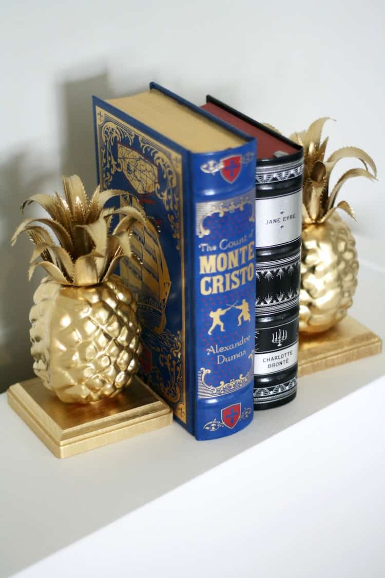 Easy Pineapple DIY Bookends