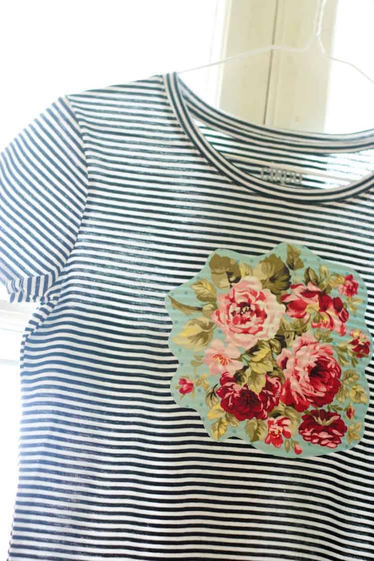 DIY applique shirt