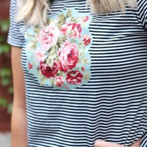 Make over a boring tee using your favorite fabric and some Heat n' Bond. This DIY t-shirt project is quick because it's no sew!
