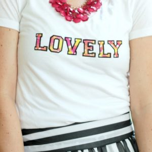 Love refashioning? Here's a super easy and adorable way to dress up your basic summer tees with the DIY watercolor trend that we are seeing everywhere!
