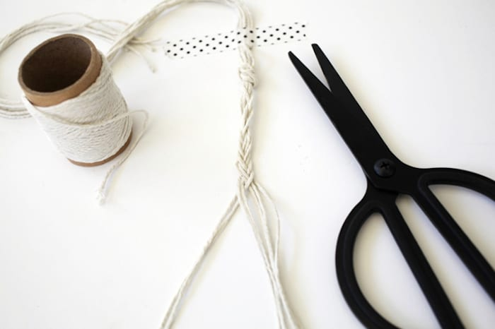 Braiding twine for a flower head band