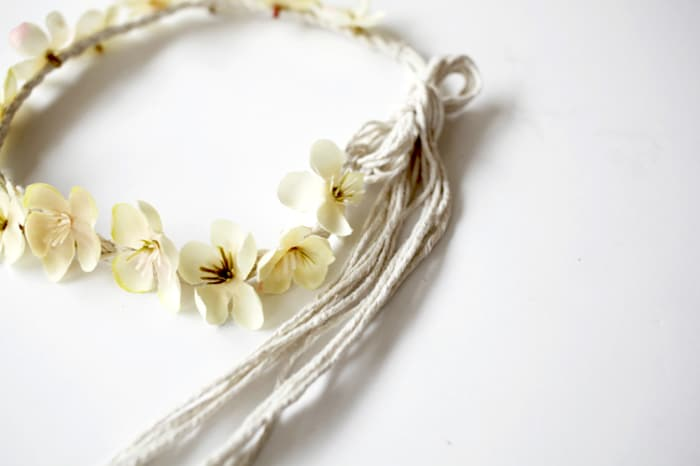 DIY fake flower headband