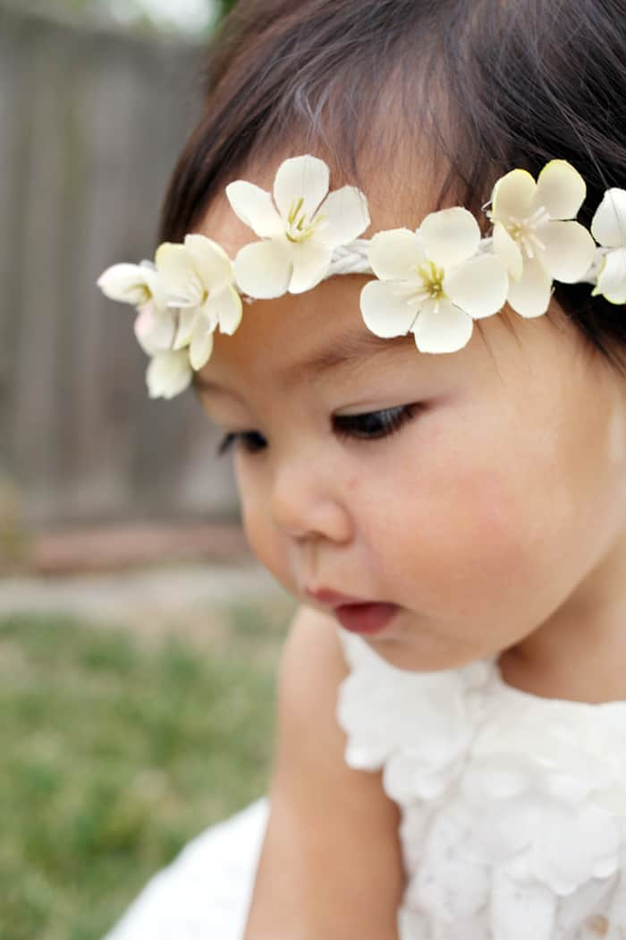 How to make a DIY floral headband