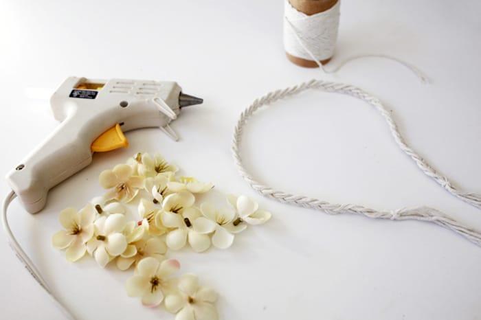 flower headband materials