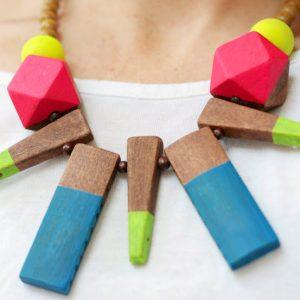 DIY Neon Statement Necklace