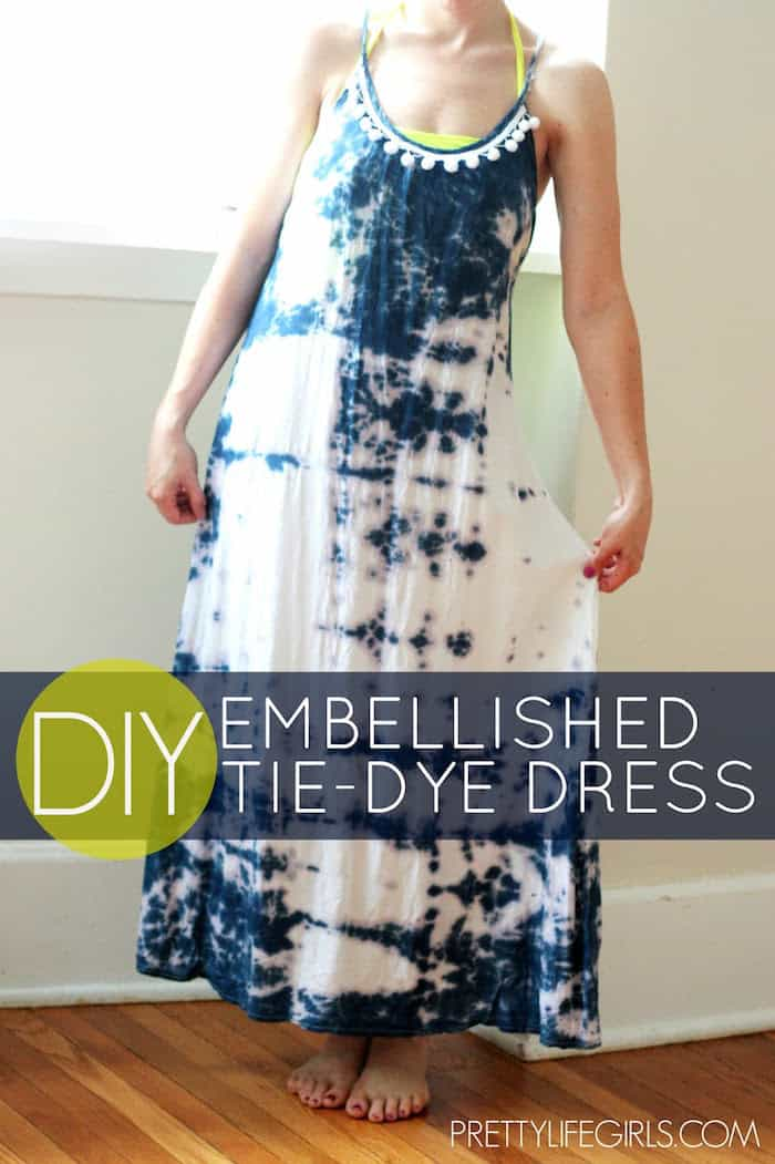 I saw a tie-dyed tank at Anthropologie for over $200; I decided to DIY a tie-dye dress version for less than $20 - it's very easy to do!