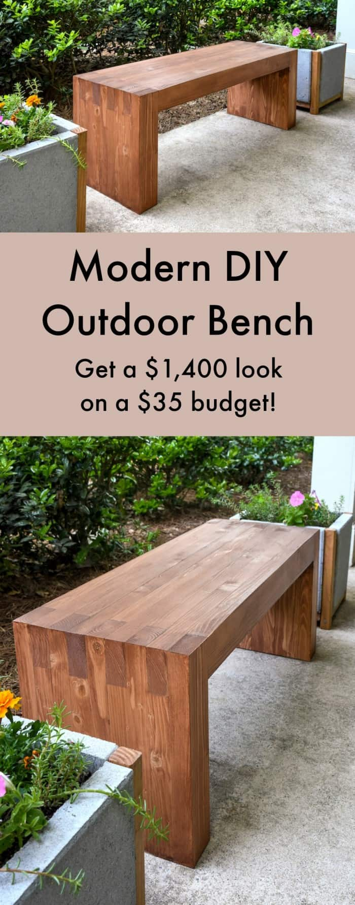 williams sonoma inspired diy outdoor bench diycandy com
