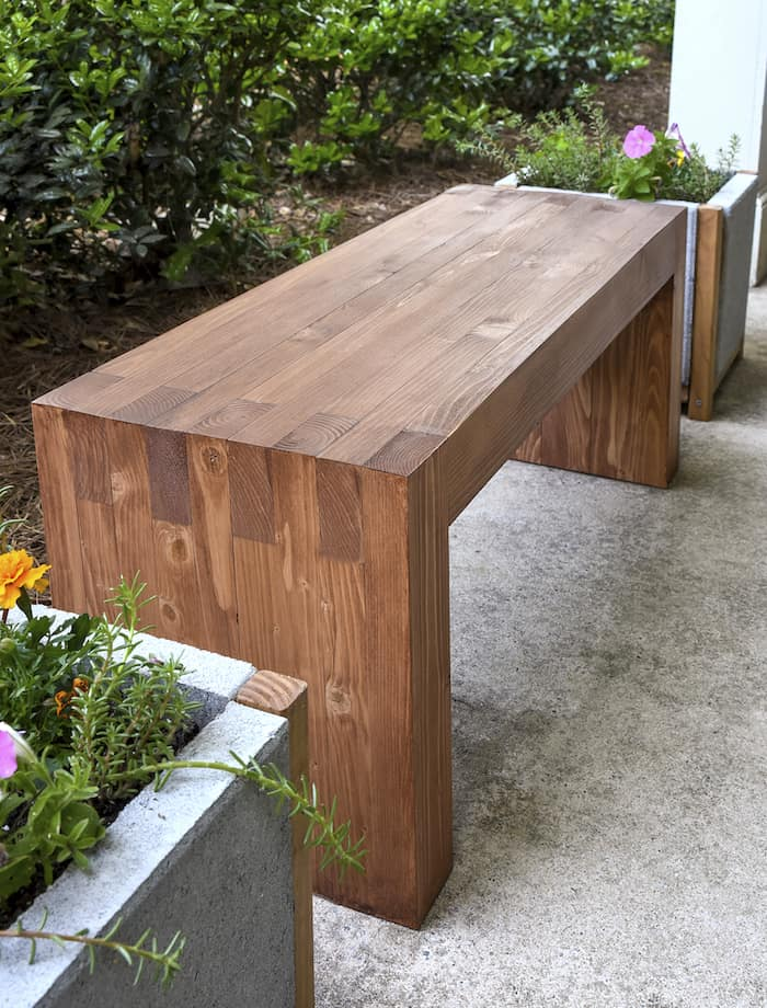 use 35 in wood and supplies to make this perfectly modern diy outdoor