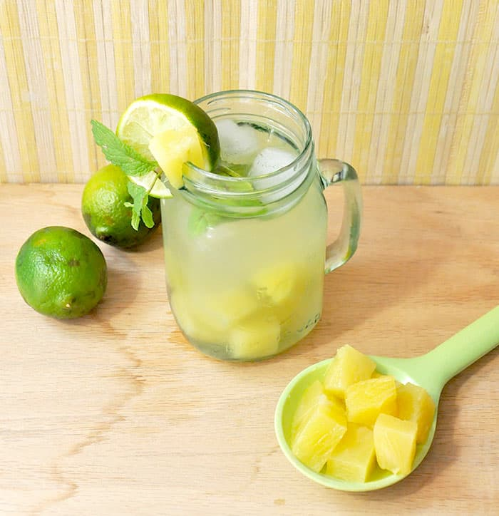 It can be hard to stay hydrated when you are bored with plain water. This delicious pineapple limeade recipe is such a refreshing summer drink!