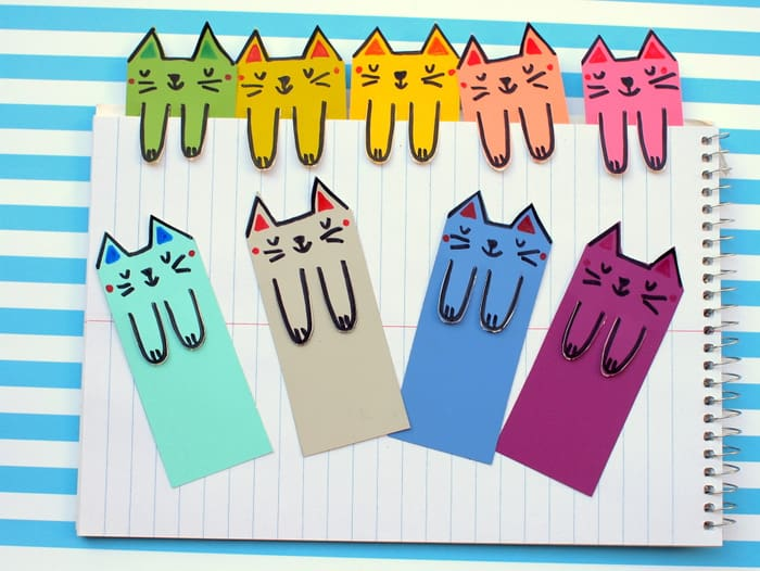 How to make cute bookmarks from paint chips