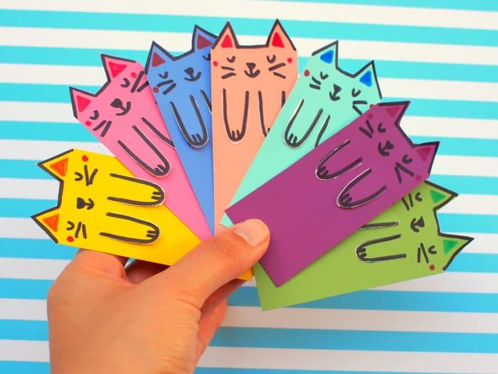 Origami Cat Bookmark . Elegant origami Cat Bookmark . origami ... | 526x700
