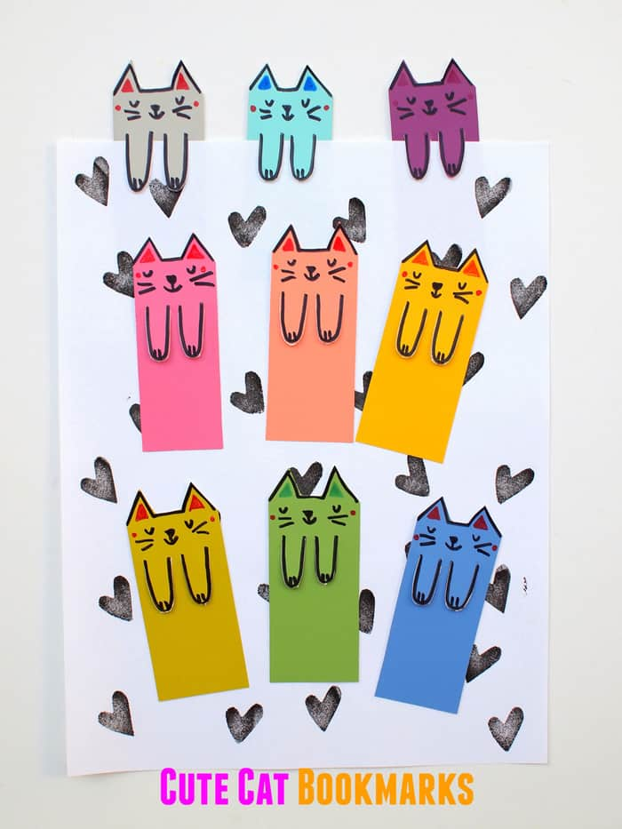 Cat Corner Bookmarks - Halloween Origami for Kids - Easy Peasy and Fun | 933x700