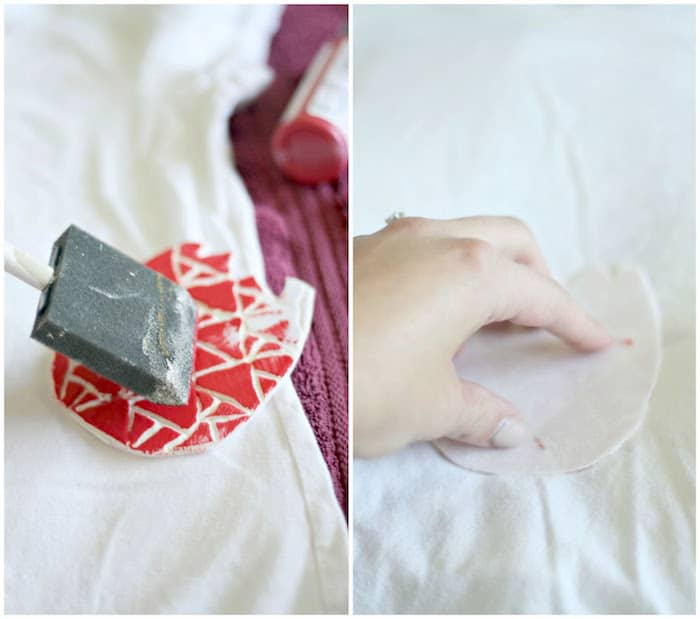 DIY t-shirt stamp - apply the paint