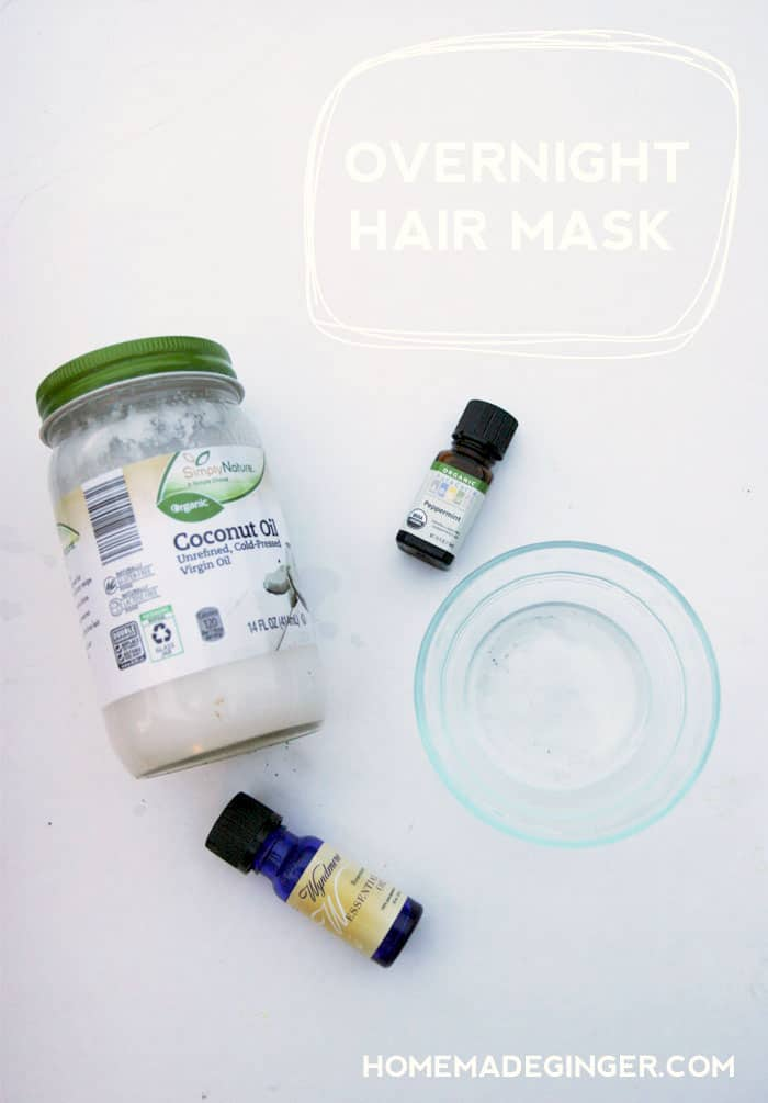 Overnight coconut oil hair mask