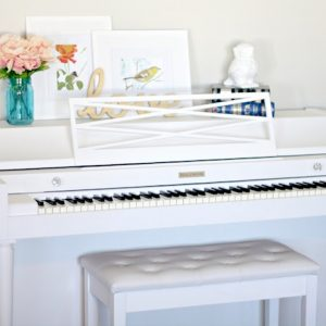 Beautiful DIY Piano Makeover