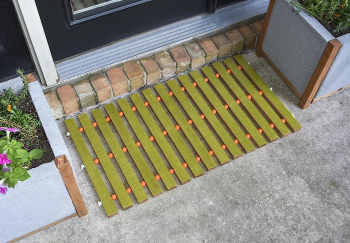 DIY Wood Doormat with Mid-Century Style