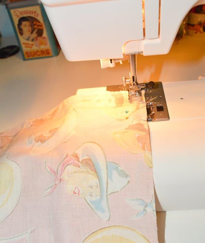 Sewing a chair cushion
