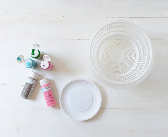DIY spin painter supplies