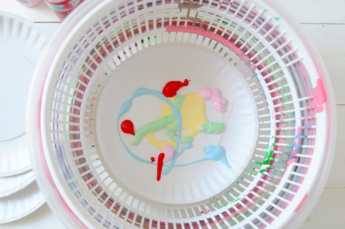 Adding paint to the DIY spin painter