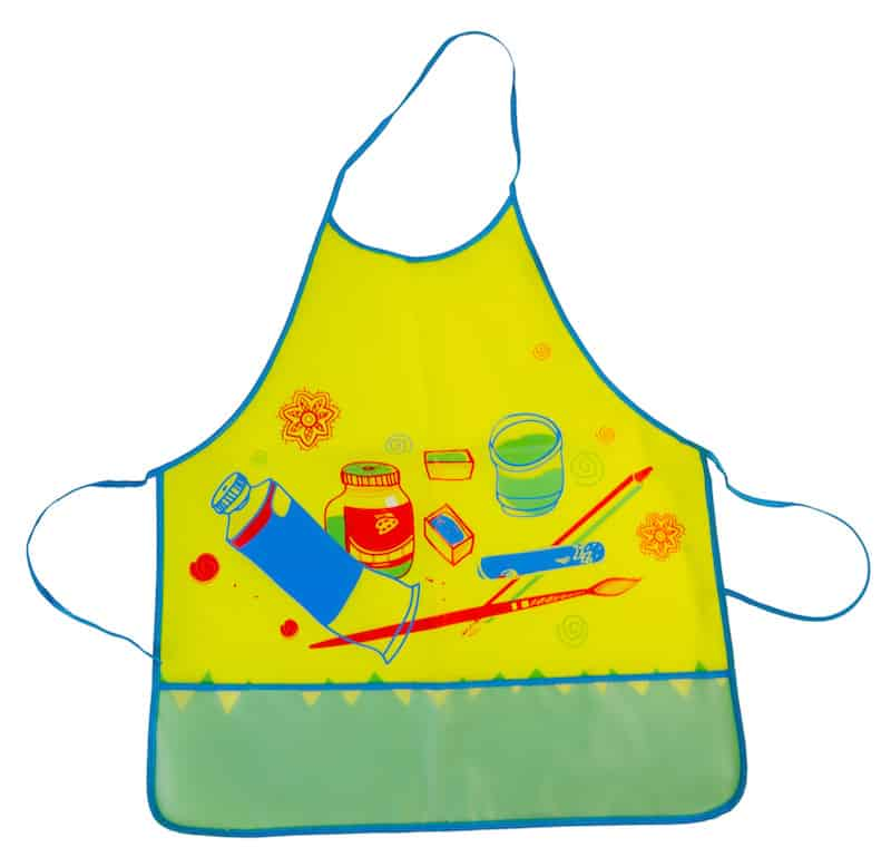 Children's apron for arts and crafts