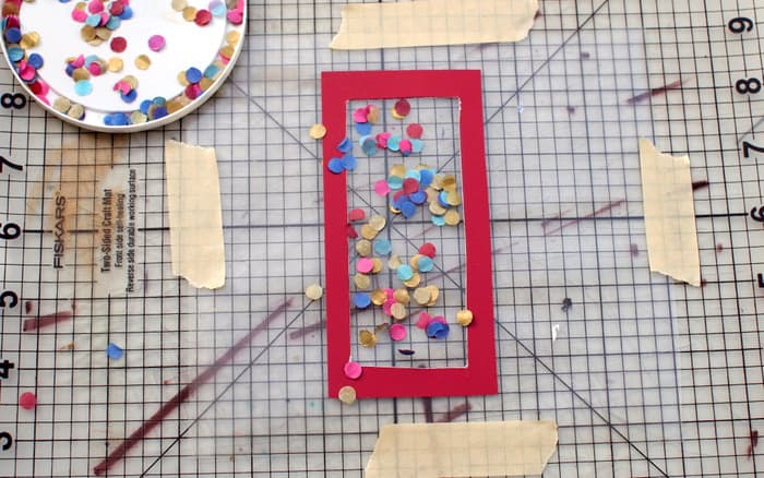 Sprinkle confetti on your DIY bookmark