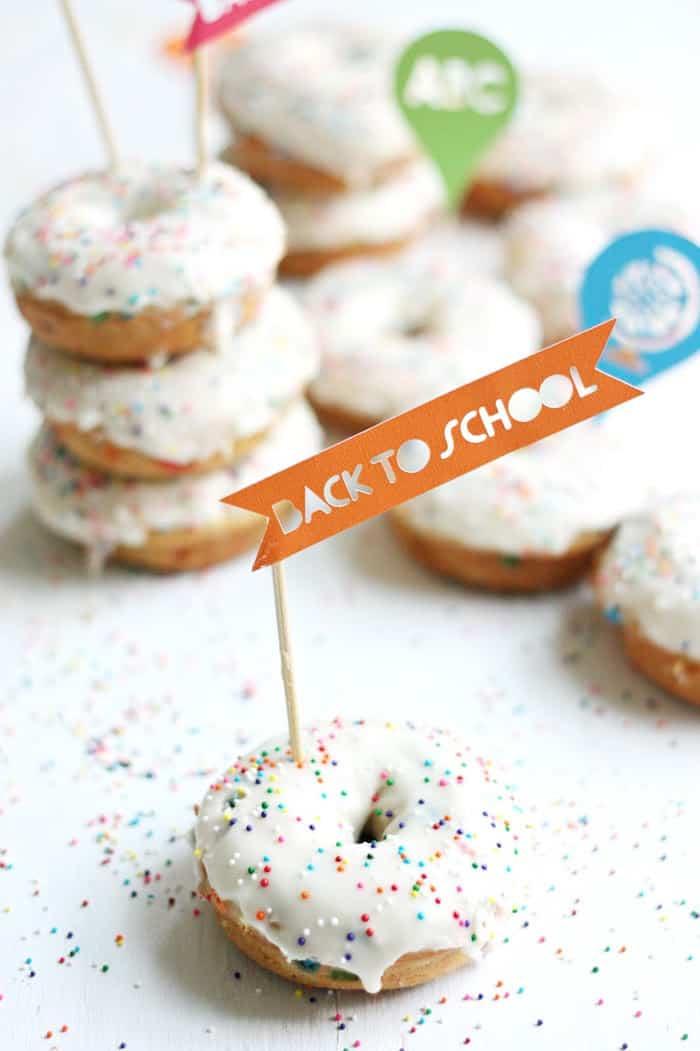 Funfetti cake donuts