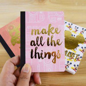 Gold Foil Mini Personalized Notebooks