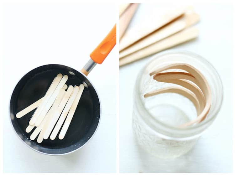 How to bend popsicle sticks using boiling water and a mason jar