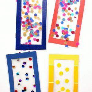 Easy Kids Craft: Confetti DIY Bookmarks