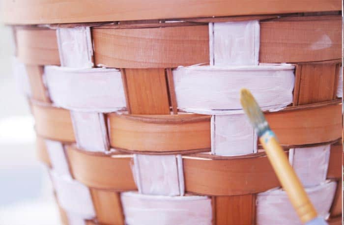 Transform thrift store baskets into modern tribal painted basket planters!