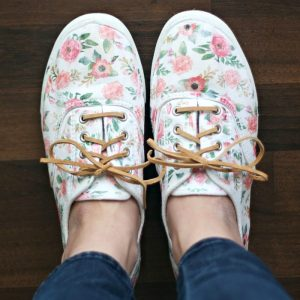 Iron-On Floral Patterned DIY Shoes