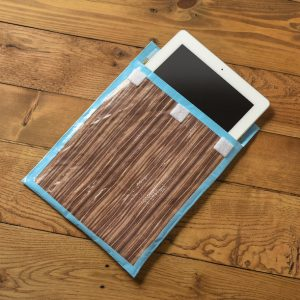 Duck Tape Craft: Woodgrain iPad Case