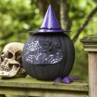 Turn a faux pumpkin into a witch in this sparkly pumpkin craft project! The best part is that you can reuse the fake gourd when you're done.