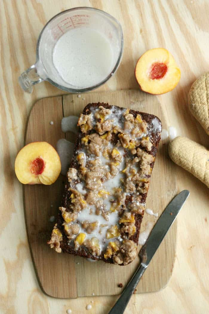 Making this peach cobbler bread recipe is a fun twist on a late-summer staple - it combines all the best parts of cobbler into a moist, rich dessert.