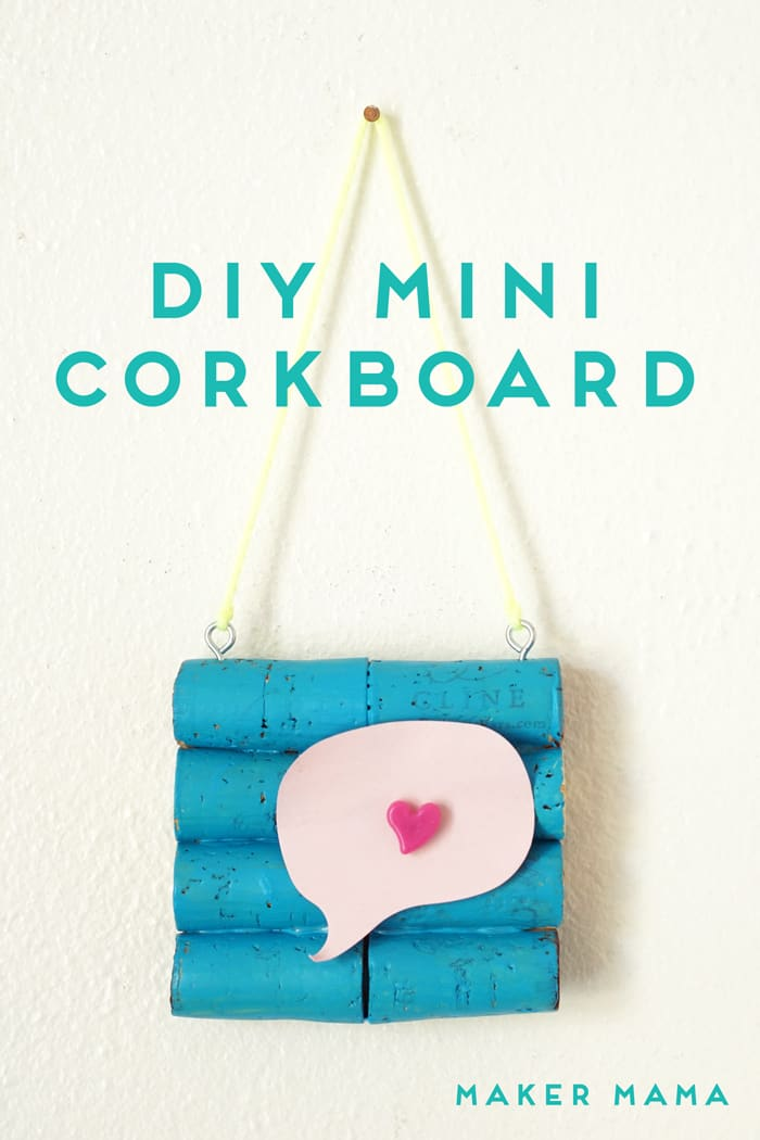 Use your stash of wine corks to make your own DIYi cork board! This cute craft can be put on the wall, doorknob, or fridge (with magnets).