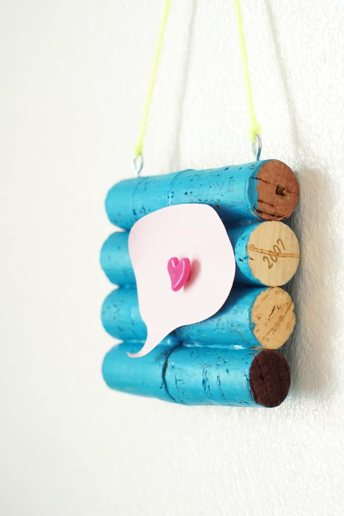 Make a cork board from wine corks