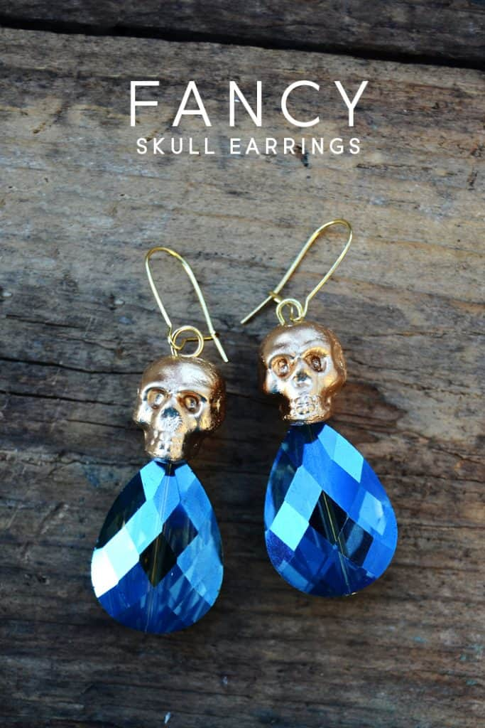 Learn how to take inexpensive plastic beads and transform them into unique skull earrings for everyday Halloween-inspired wear!