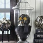 DIY Halloween skull display