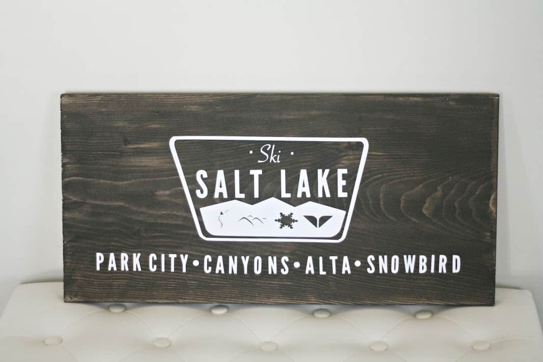 Salt Lake City Wooden Sign