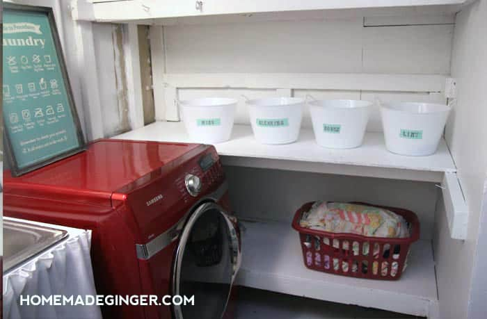 I Just Recently Made Over An Unfinished Basement Laundry Room For Less Than  $100. Dollar