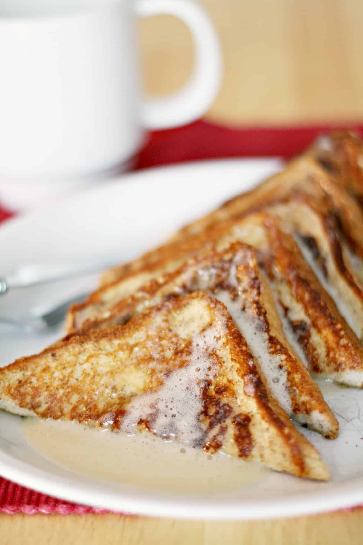 If you love seasonal flavors, this eggnog french toast recipe is perfect! Make it on a crisp fall morning and pair with buttermilk syrup.