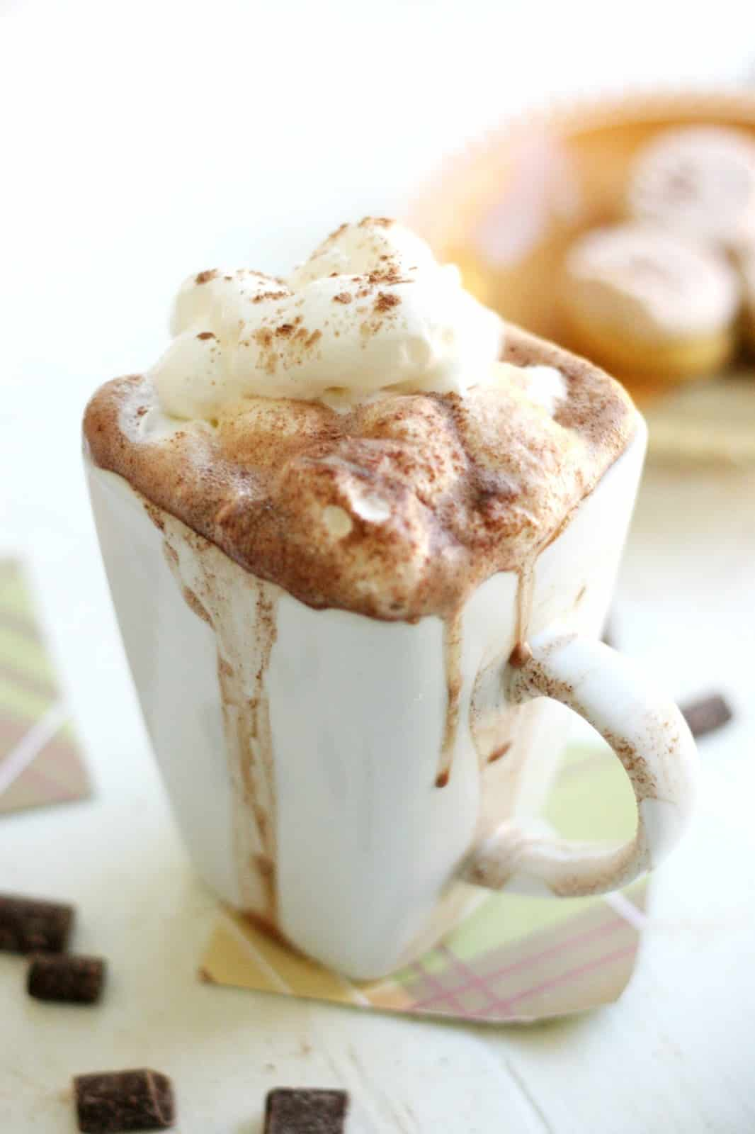 This delicious hot chocolate recipe is so creamy and rich that it will put the hot cocoa packets in your cupboard to shame.