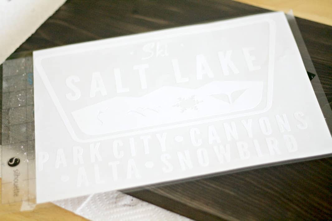 Cutting a Salt Lake City decal