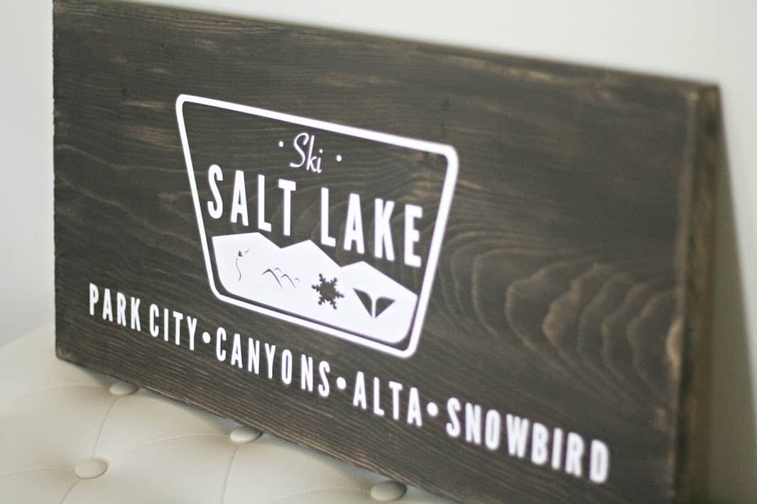 Easy Wooden Sign with stain and a vinyl decal